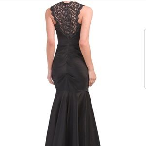 XScape Ruched Taffeta and Lace Mermaid Gown NWT